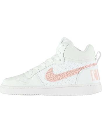 0efc808a9c Nike. Court Borough Mid Top Trainers Junior Girls. from Sports Direct