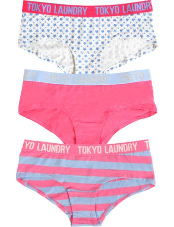 775ba9eac2 Hettie Penguin Print Cami Underwear Set. from Tokyo Laundry. £11.99.  Adeline (3 Pack) Assorted Print Short Briefs In Blue   Pink   Ivory from