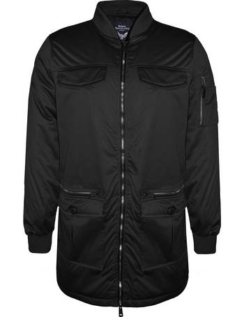 77657931187 Myles MA1 Longline Bomber Jacket In Black from Tokyo Laundry