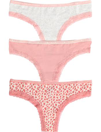 a63c86f1ee0e Hetty (3 Pack) High Leg Lace Knickers from Tokyo Laundry