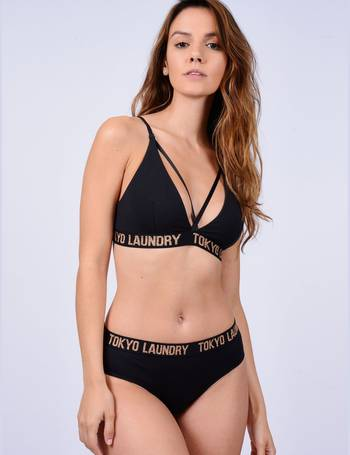 42b76ffefb Charlotte Strappy Bra and Brief Underwear Set in Black – Tokyo Laundry  from Tokyo