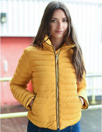 c027efd6701 Jenny Funnel Neck Quilted Jacket in Old Gold – Tokyo Laundry from Tokyo  Laundry