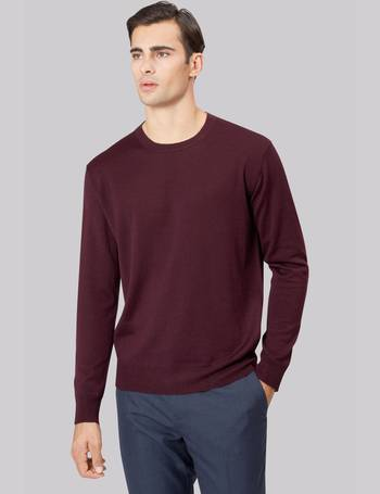 8f9b2636ddb8 Shop Men s Moss Bros Crew Neck Jumpers up to 60% Off
