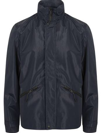963e0ac4 Ashlar Ripstop Windbreaker Jacket with Concealed Hood in Navy – Dissident  from Tokyo Laundry