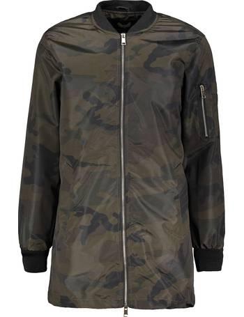 cb682c2bb5f Morgan MA1 Camouflage Print Longline Bomber Jacket – Khaki from Tokyo  Laundry