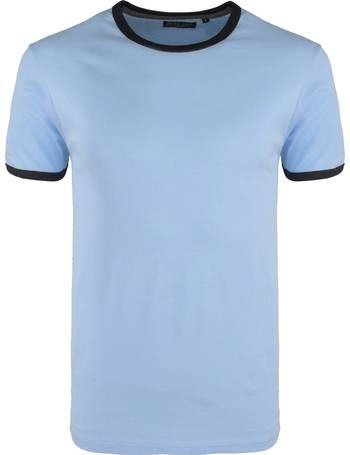 f8e85f7f93 TallonC Ringer Short Sleeve Cotton T-shirt in Sky Blue from Tokyo Laundry