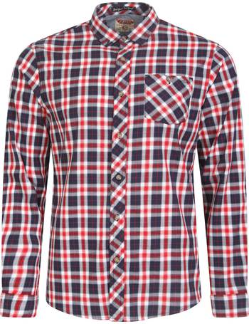 b5a0ab860c Fallon Cotton Twill Checked Shirt in Tango Red – Tokyo Laundry from Tokyo  Laundry