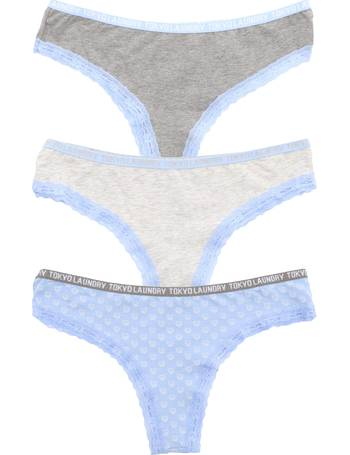 a30dd0a01 Aubree (3 Pack) High Leg Lace Knickers In Mid Grey  Grey   Blue