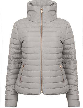 54d6763965e Honey 2 Funnel Neck Quilted Jacket in Silver Sconce – Tokyo Laundry from  Tokyo