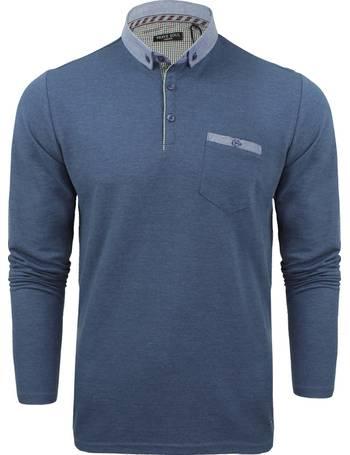 6ec1f8fc14b HeraF Chambray Collar Long Sleeve Polo Shirt from Tokyo Laundry