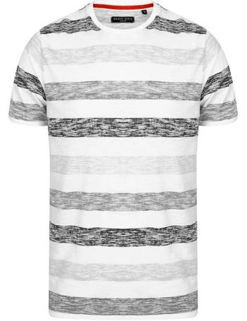ef581ee5646 Coast Burn Out Stripe Crew Neck T-Shirt from Tokyo Laundry