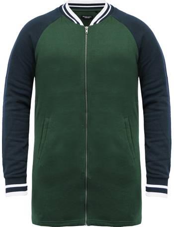 fbb8f6219ce Freedom Raglan Sleeve Longline Bomber Jacket in Bottle Green   Navy from  Tokyo Laundry
