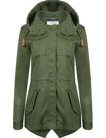 d6d91e32b73ec Emer Cotton Twill Hooded Parka Jacket from Tokyo Laundry