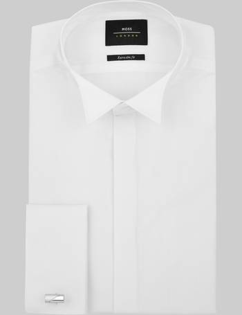 5630bd682e9 Extra Slim Fit Double Cuff Wing Collar Dress Shirt from Moss Bros