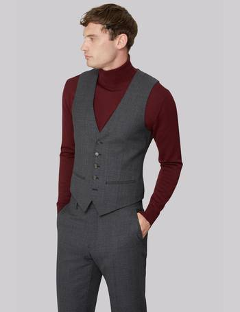 ed37b9e39e804 Ted Baker. Tailored Fit Charcoal Melange Waistcoat