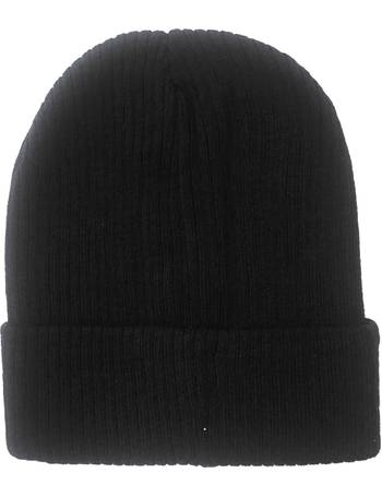 1ef70aacff4 Thomas Calvi. Jaylon Ribbed Knitted Beanie Hat in Black