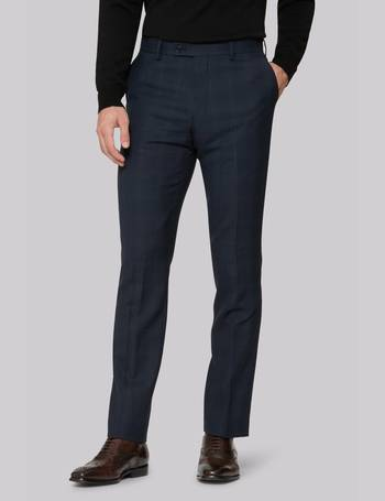 2c111f01d3028 Ted Baker. Tailored Fit Blue Orange Check Trousers