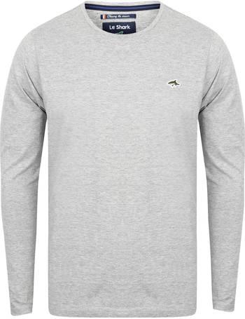 b1a03394a7cd Lambeth Crew Neck Long Sleeve Top in Light Grey Marl – Le Shark from