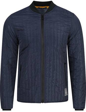 eb21e0357fd Dissident quilted Peveril navy bomber jacket from Tokyo Laundry