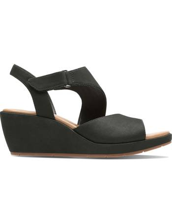 ab21811070471 Clarks. Un Plaza Sling Suede Wedge Sandals. from La Redoute