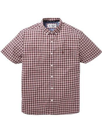 Mens WILLIAMS /& BROWN Short Sleeve Stripe Seersucker Shirt Jacamo