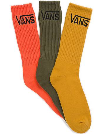 40cd512fb3 Classic Crew Socks (3 Pair Pk) (mineral Yellow Assorted) Multicolour from  Vans