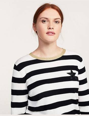 Womens Frill Sleeve Metallic Stripe Jumper Simply Be