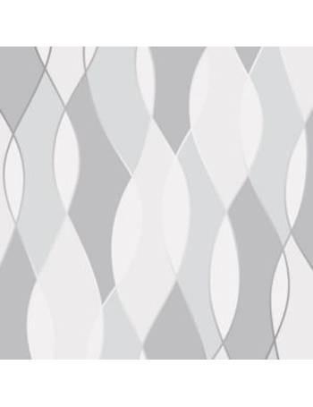 Fine D Cor Grey Geometric Textured Wallpaper From BQ