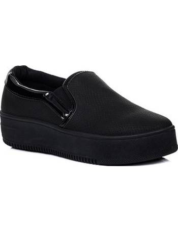 a16d0c450821e Spylovebuy. RASPBERRY Platform Croc Print Flat Loafer Shoes