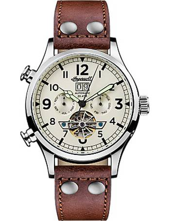 b54cf983ba3d6 Men s The Armstrong Automatic Chronograph Day Date Leather Strap Watch from John  Lewis
