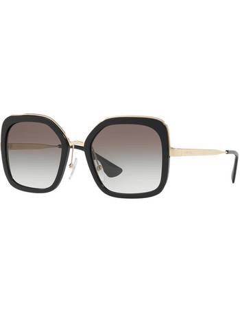 67282b164fa Shop Women s Prada Square Sunglasses up to 30% Off