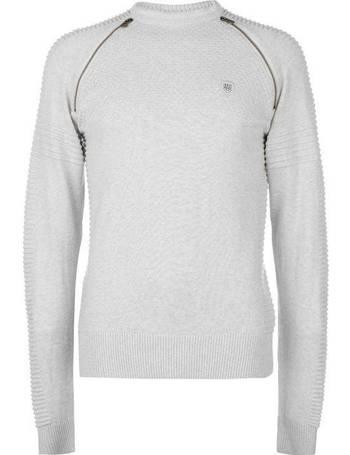 883 Police Nozzo Mens  Long Sleeve Jumper Sweater Knitwear Sweatshirt