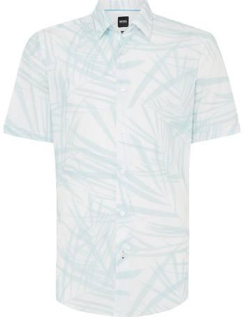 d24ad0f9 Men's Hugo Boss Luka 5F Short Sleeve Regular Fit Print Shirt from House Of  Fraser