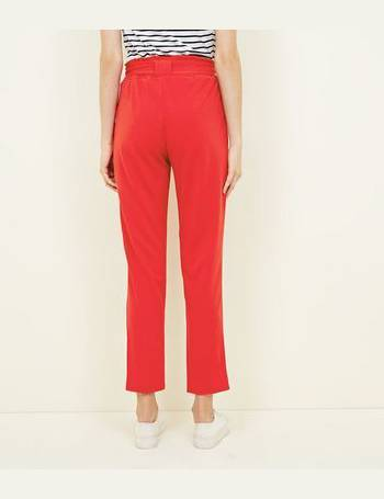 e221fd7eec84e Cameo Rose. Red Belted Paperbag Waist Trousers ...