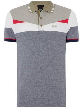 caf776ab4 Men's Hugo Boss Paddy 6 chest block stripe polo shirt from House Of Fraser