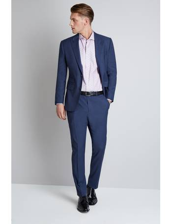 8d90443b8a88 Tailored Fit Blue Basketweave Jacket from Moss Bros