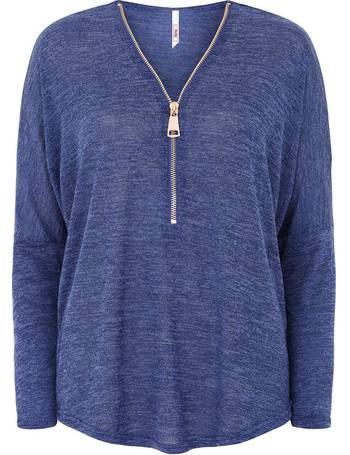 Soft Touch Plain Zip Front Sweater from Bonmarché. Quick View · Stella  Morgan 7da62c7ef