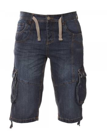 7fa17acb11 ETO   Designer Mens Dark Blue Denim Combat Shorts from ETO Jeans