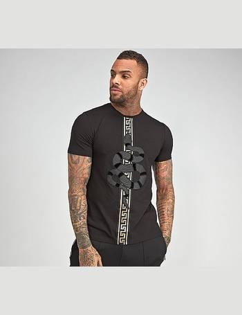 GLORIOUS GANGSTA MEN/'S MILKO  CREW NECK T-SHIRT BLACK