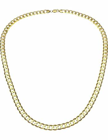 5ca9075ef3f10 9ct Gold 16 inch Curb Chain