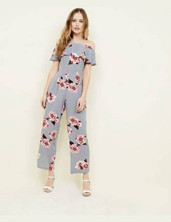 d8715771cb18 Light Grey Floral Bardot Neck Jumpsuit New Look from New Look. Quick View · Cameo  Rose
