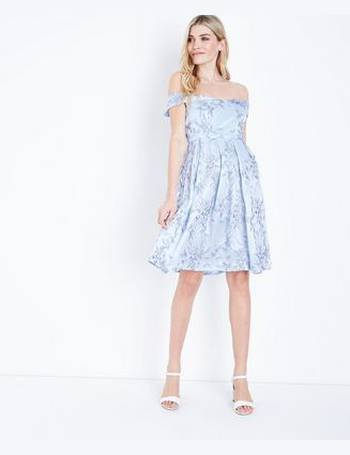 e7ad73a1801 Pale Blue Floral Embroidered Prom Dress New Look from New Look