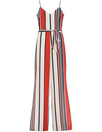c26decc429 Quiz Red Cream And Blue Stripe Palazzo Jumpsuit from House Of Fraser