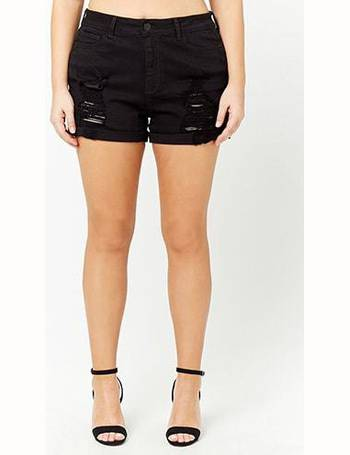 b3421a831f06d Plus Size Distressed Cuffed Denim Shorts from Forever 21