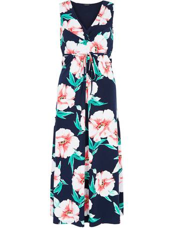 d82c1bfb81 2 in 1 Printed Maxi Dress and Shrug from Bonmarché