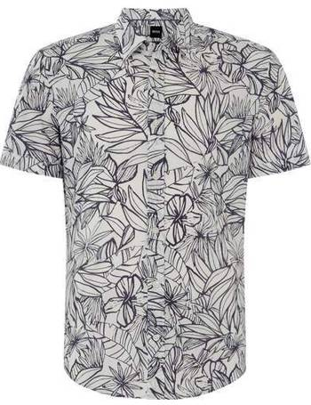 d5dbdaa6 Men's Hugo Boss Rid Floral Print Short Sleeve Shirt from House Of Fraser
