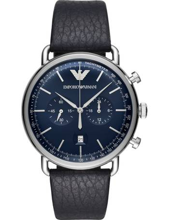 b9dfb187c8c Men s Chronograph Date Leather Strap Watch from John Lewis