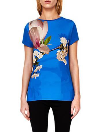 0e49c9ac195b99 Ted Baker. Aeesha Harmony Floral Print T-Shirt. from John Lewis