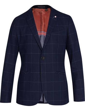 91865a049 Men s Ted Baker Izar Windowpane Check Suit Jacket from House Of Fraser