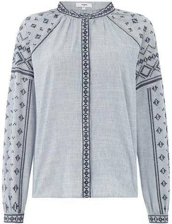 01e8d3bd47d95 Long Sleeve Round Neck Embroidered Lila Blouse from House Of Fraser